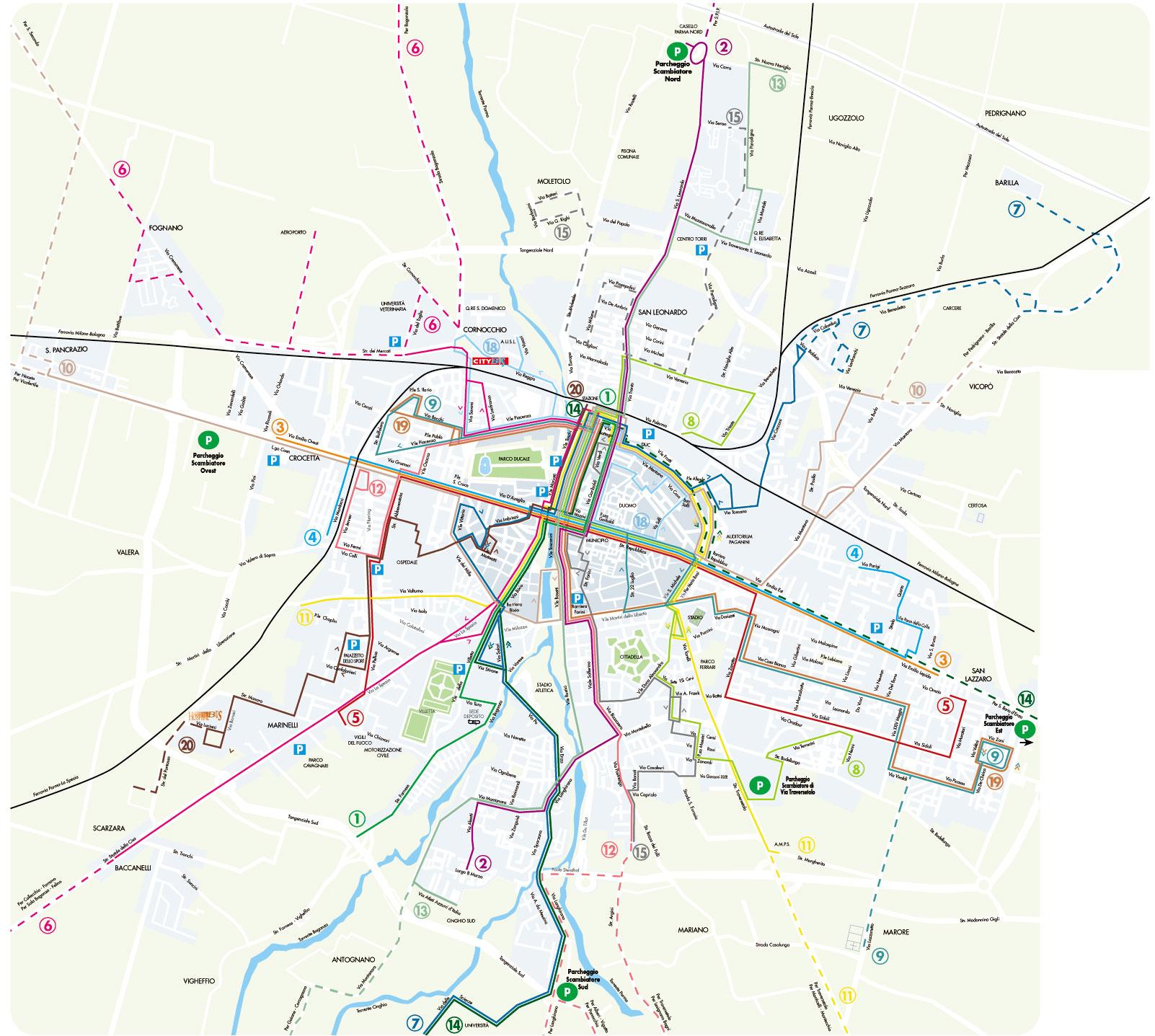 Parma Italy • mappery
