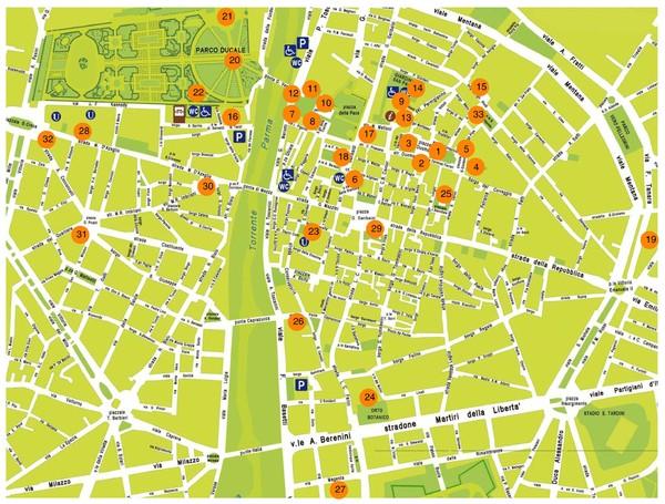 Parma centro storico Map Parma Italy mappery