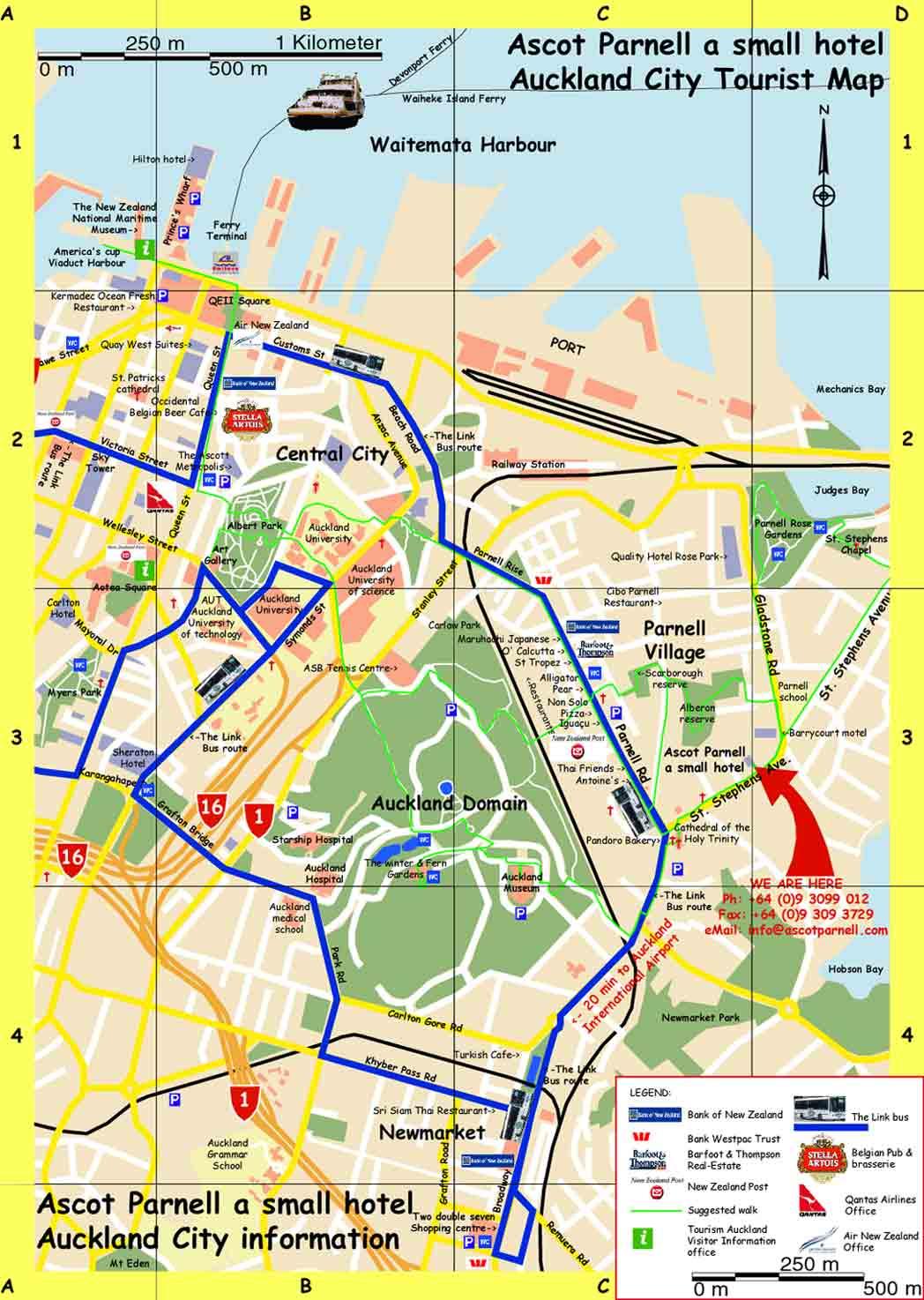auckland tourist map parnell auckland tourist map parnell auckland
