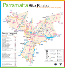 Parramatta Bike Route Map