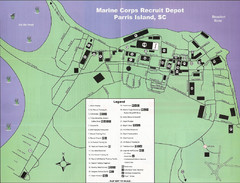 Parris Island Marine Corps Recruit Depot Map