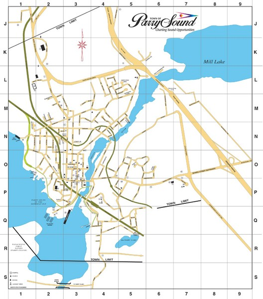 Parry Sound Town Map
