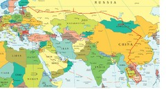 Partial Europe, Middle East, Asia, Partial Russia, Partial Africa Map