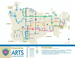 Pasadena ARTS (Area Rapid Transit System) Map
