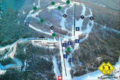 Pass Powderkeg Ski Trail Map