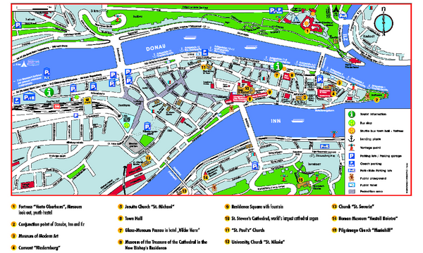 fullsize passau tourist map