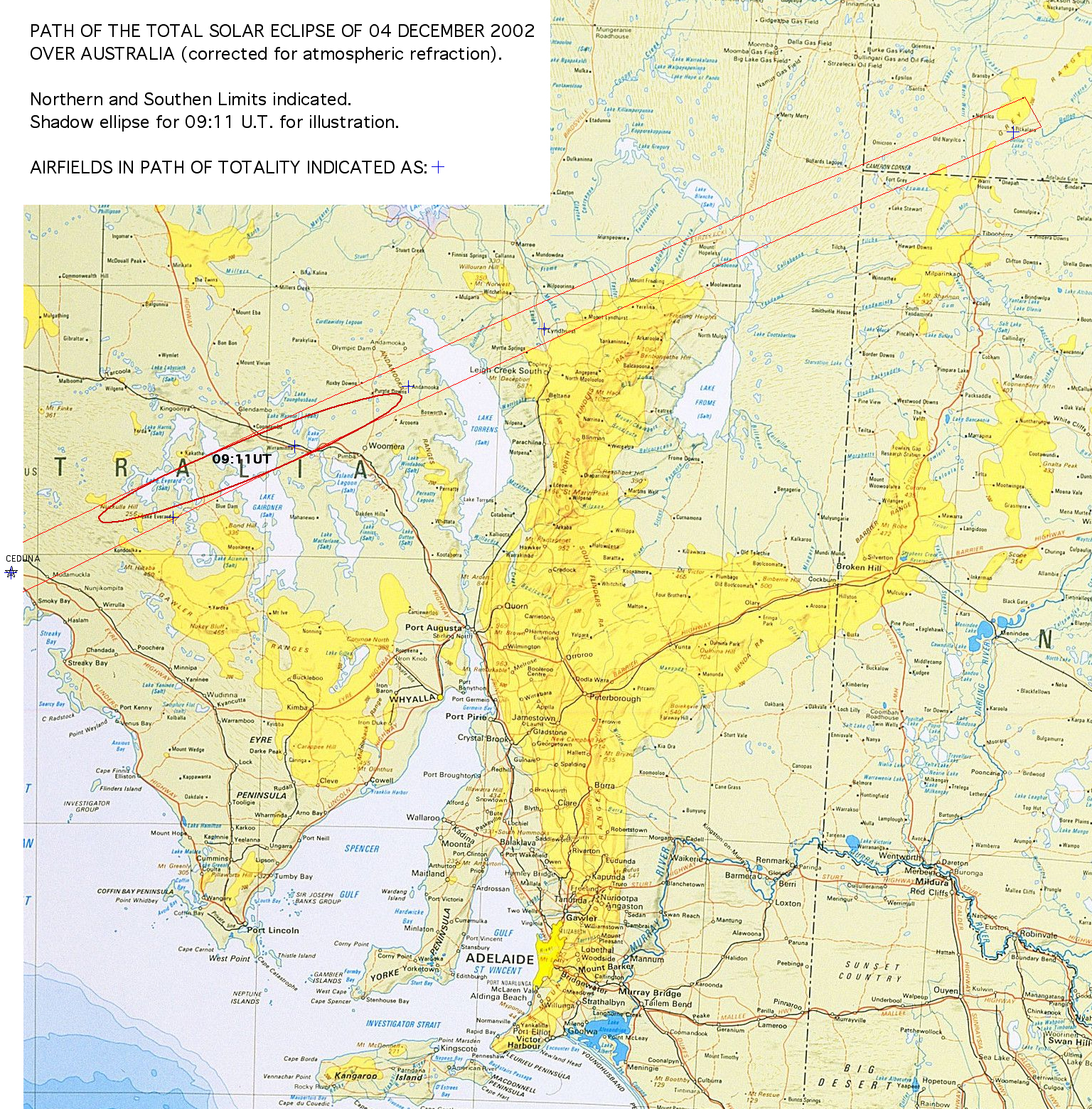 path of total solar eclipse over australia map adelaide australia mappery