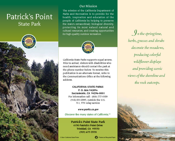 Patrick's Point State Park Map
