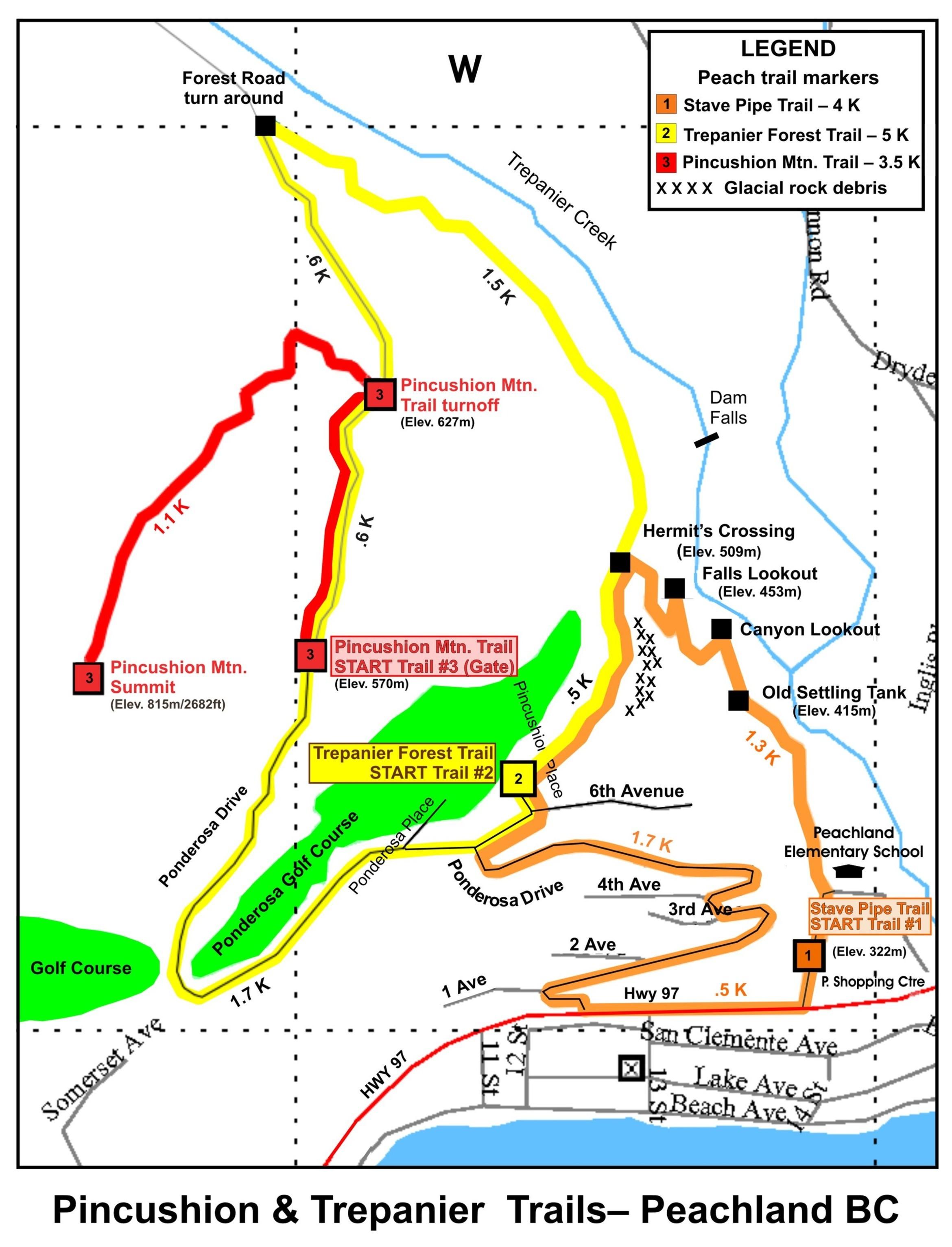 Map Of Peachland B.C Canada Peachland Walks Map   Peachland BC Canada • mappery