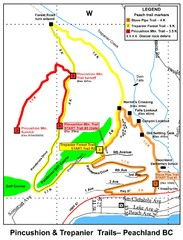 Peachland Walks Map