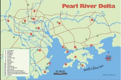 Pearl River Delta Tourist Map