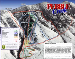 Pebble Creek Ski Trail Map