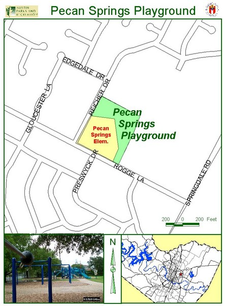 Pecan Springs Playground Map