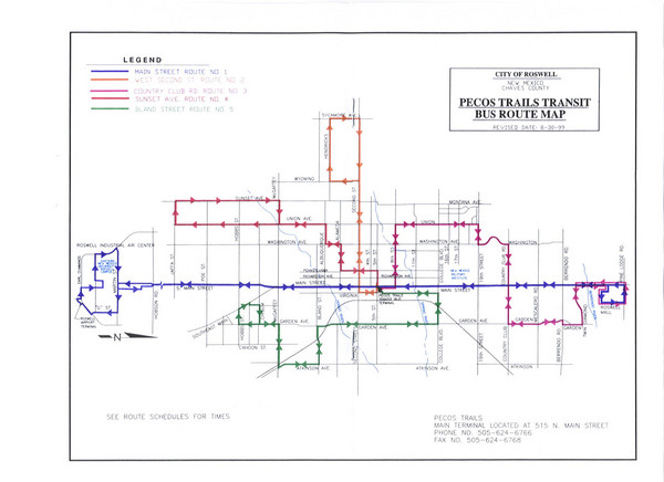 Pecos Trails Bus Route Map