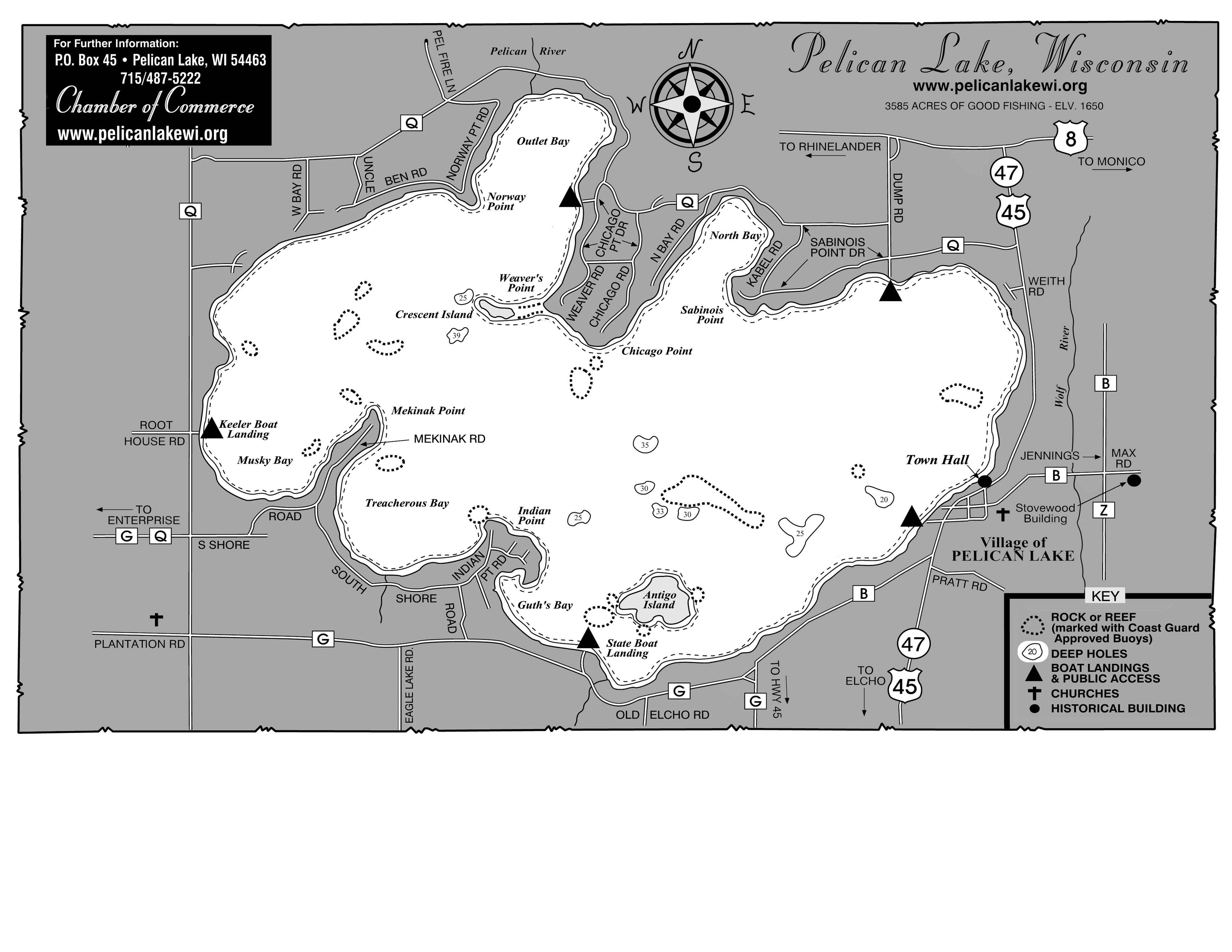 Pelican Lake Map Pelican Lake Wisconsin Mappery - Wisconsin topographic lake maps