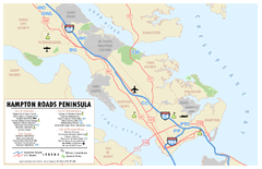 Peninsula of Hampton Roads Map