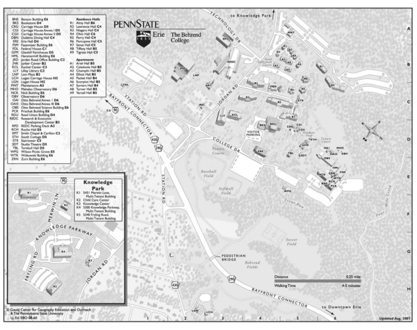 Penn State Erie Behrend College Campus Map   Wesleyville PA • mappery