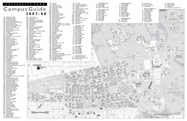Penn State - University Park Campus Map - State College PA • mappery