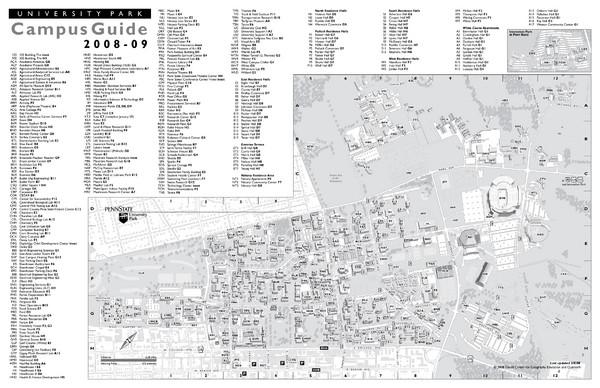 Penn State University Park Campus Map Penn State University