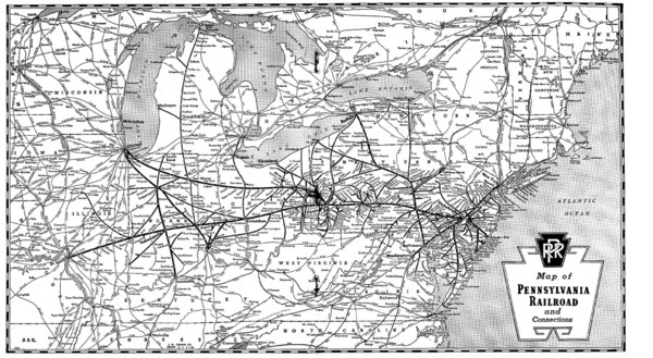 Pennsylvania Railroad System Map