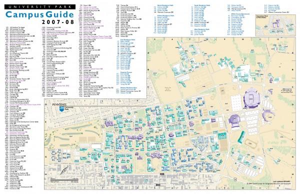 Pennsylvania State University University Park Map University
