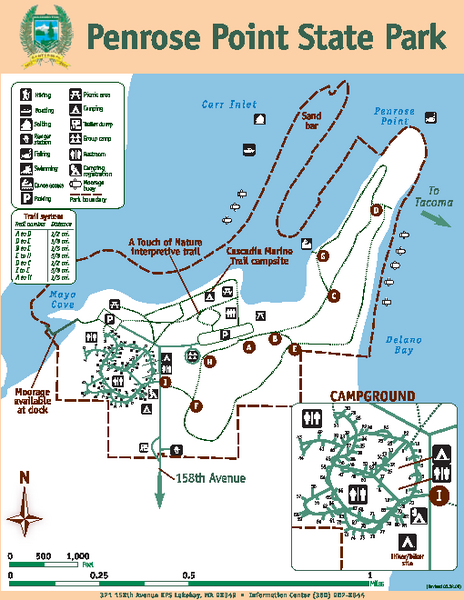 Penrose Point State Park Map