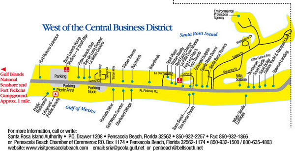 {Pensacola Beach Tourist Map Pensacola Beach mappery – Pensacola Tourist Attractions Map
