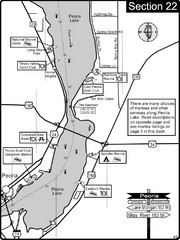 Peoria, IL Illinois River/Peoria Lake Map