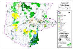 Pepperell Conservation Land and Open Spaces Map