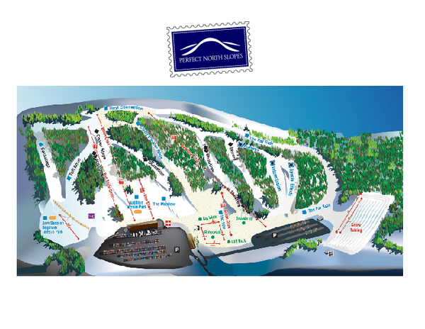 Perfect North Slopes Ski Trail Map