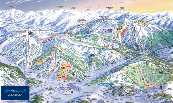 Perisher Ski Trail Map