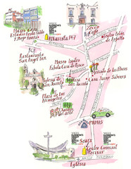 Perisur Map for Fashion's Night Out
