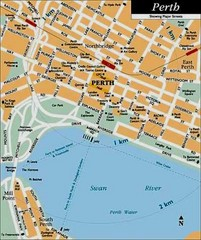 Perth, Australia City Map