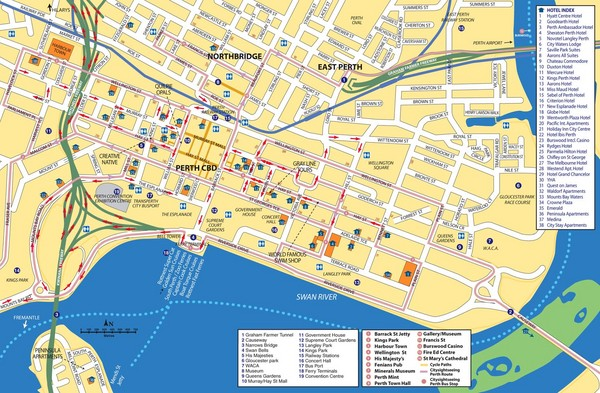 fullsize perth street map