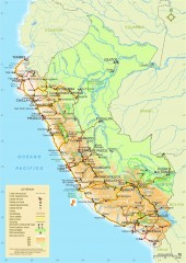 Peru National Parks map