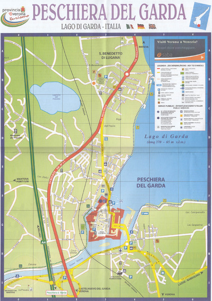 Garda Street Map Peschiera Del Garda Map