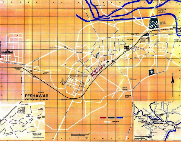 Peshawar City Map