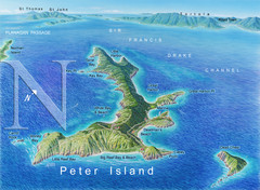 Peter Island BVI Map