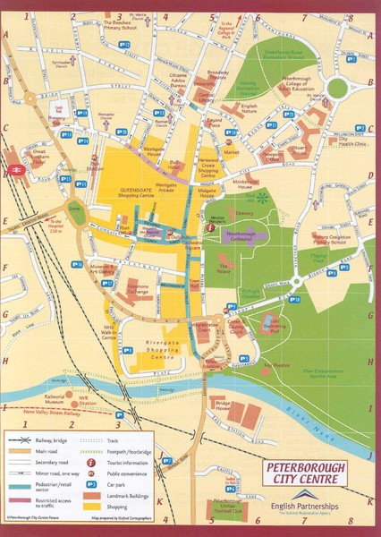 Peterborough City Center Map