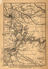 Petersburg, Virginia 1864 Map