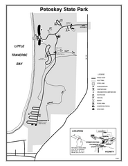 Petoskey State Park, Michigan Site Map