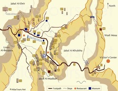Petra and monuments Map