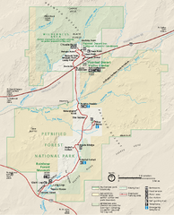 Petrified Forest National Park Official Park Map