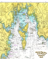 Phang Nga Bay Thailand Map