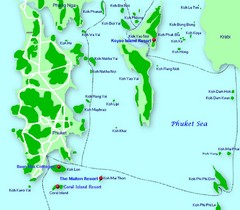 Phang Nga Islands Map