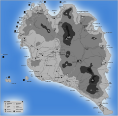 Phangan Island Tourist Map