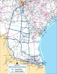 Pharr Texas Hurricane Evacuation Route Map