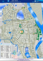 Phenum Penh City Tourist Map