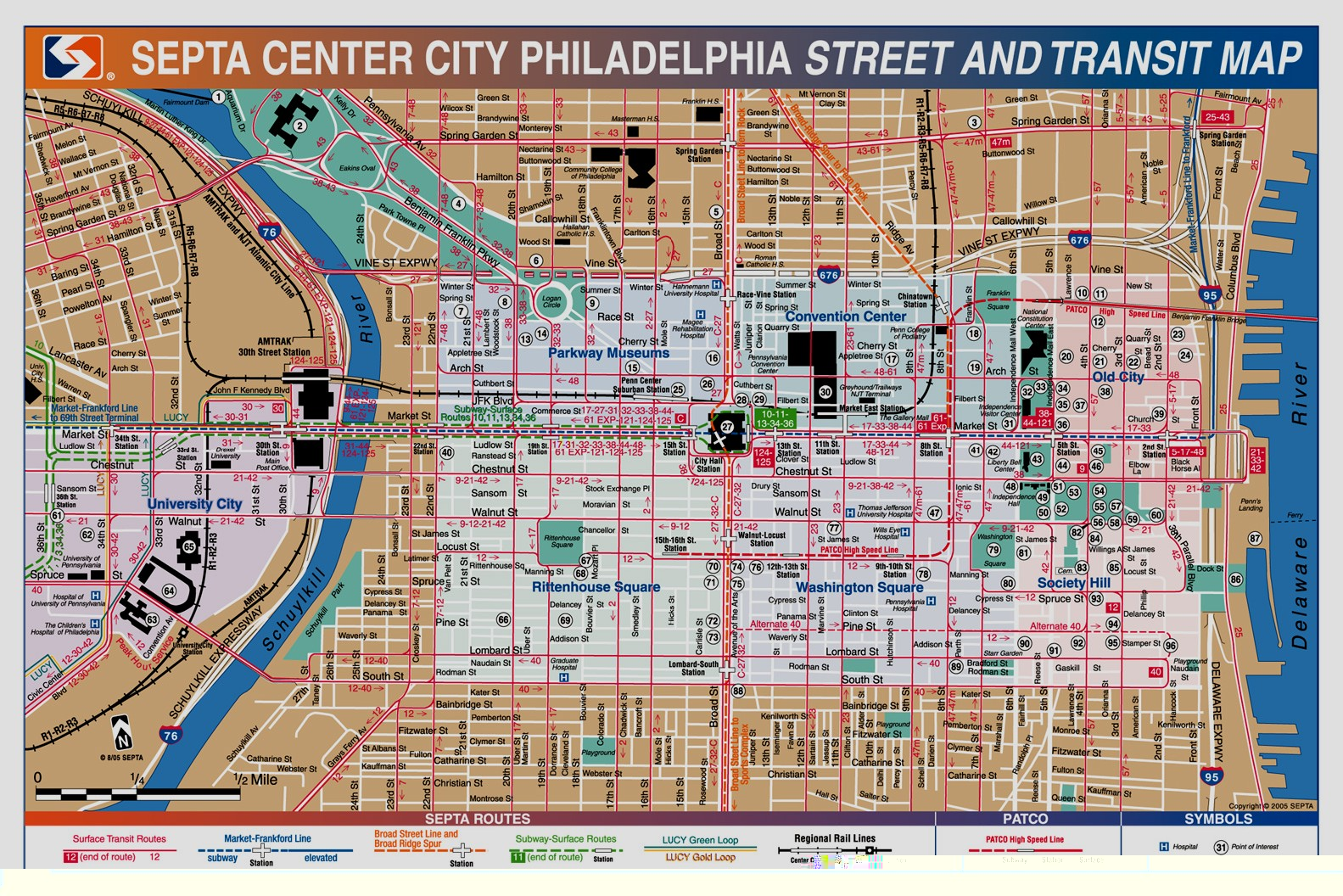Philadelphia Map Tourist