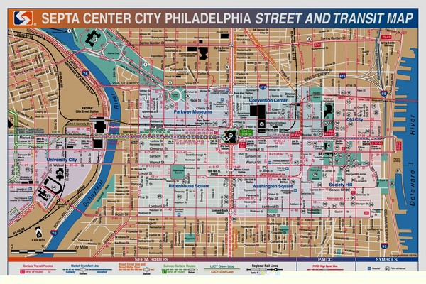 real life map collection mappery – Philadelphia Tourist Attractions Map